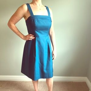 J Crew Marie Cotton Cady Dress - Cadet Blue
